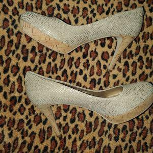 Taheri snakeskin print heels